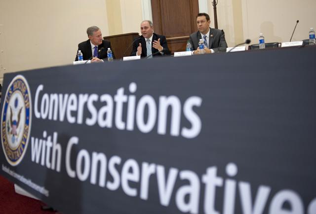 Conversations with Conservatives (Credit: Chris Maddaloni/CQ Roll Call/Newscom)
