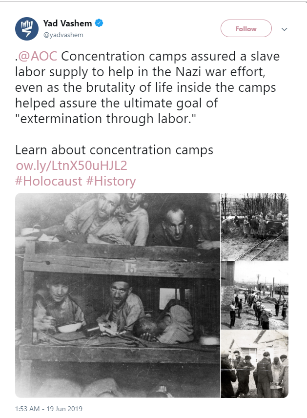 aoc concentration camp tweet