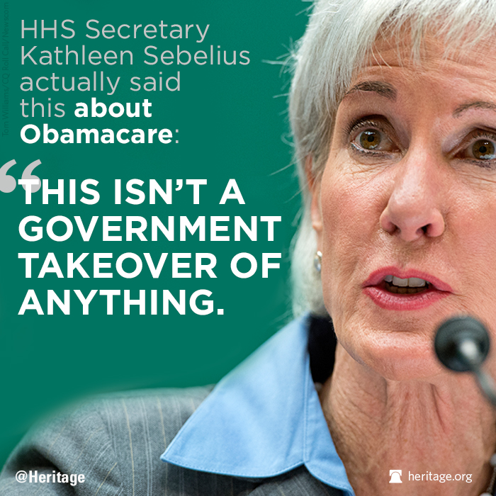Sebelius: Obamacare isn't a government takeover of anything