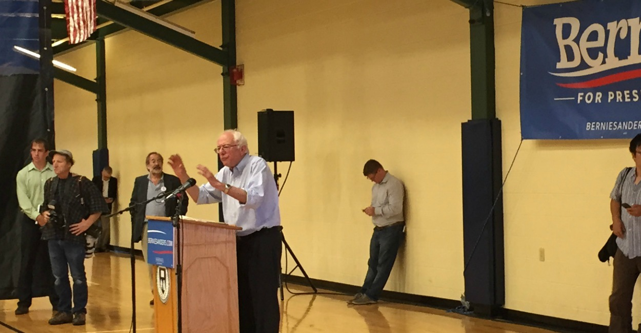 Sanders spoke at Nashua Community College in New Hampshire Saturday. (Photo: Kate Scanlon/The Daily Signal)