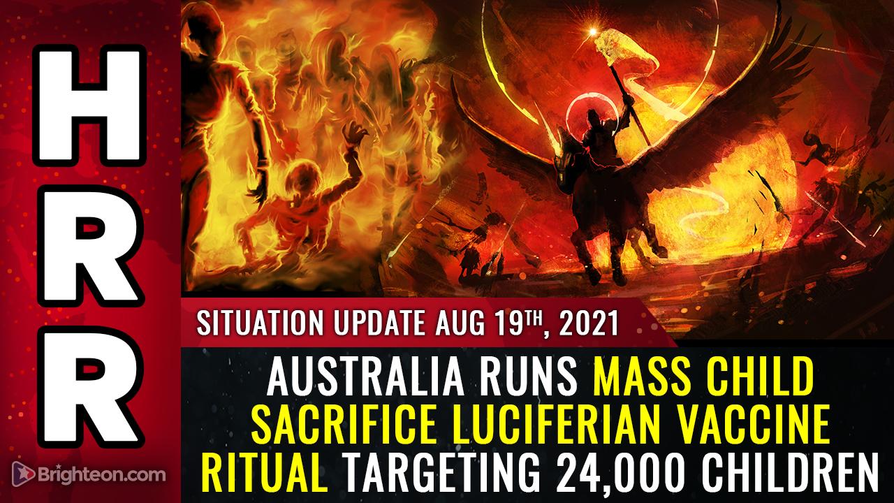 Image: Australia runs mass child sacrifice Luciferian vaccine ritual targeting 24,000 children (WARNING: GRAPHIC)