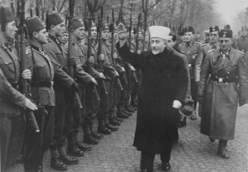 Hajj Amin al-Husseini inspecting Axis troops.