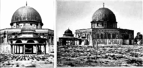 The Dome of the Rock pre-mufti, about 1875. Note the general abandonment and disrepair.