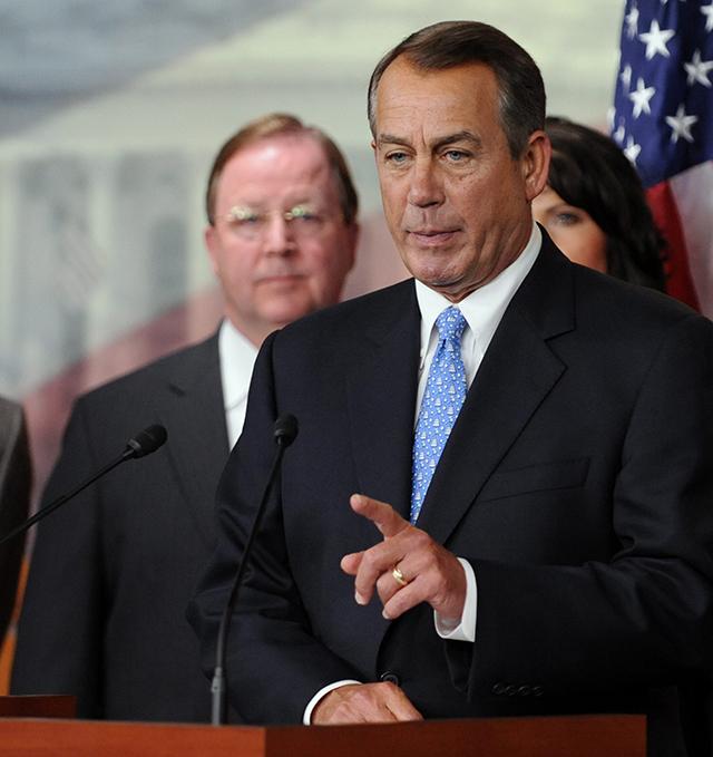 Speaker of the House John Boehner with Flores. (Photo: Michael Reynolds/Newscom)