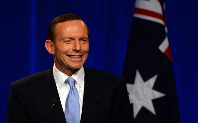 Australian Prime Minister-elect Tony Abbott (SAEED KHAN/AFP/Getty Images/Newscom)