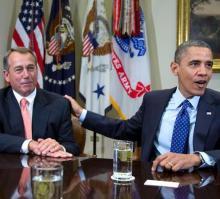 House Speaker John Boehner and President Barack Obama. (AP Photo/Carolyn Kaster)