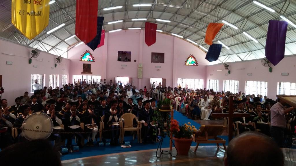 Graduation at a seminary graduation in India (Photo: Jesse Johnson)