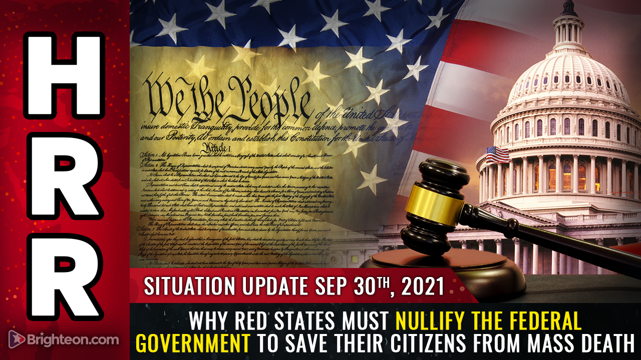 """Image: To survive, red states must now NULLIFY the federal government and declare themselves """"health freedom zones"""" that DENOUNCE the FDA, CDC and OSHA"""
