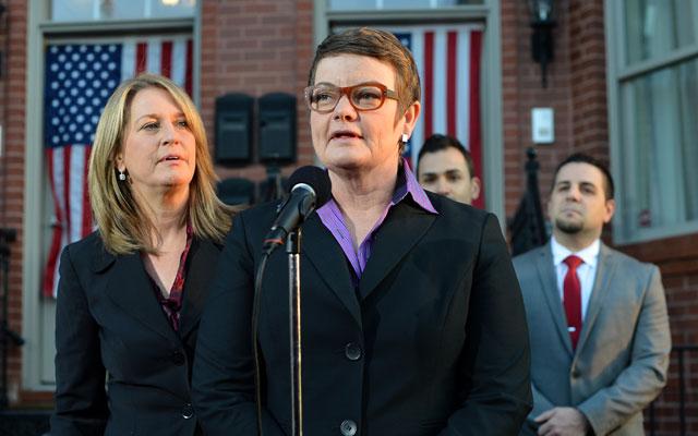Hollingsworth v. Perry Plaintiffs Kris Perry and Sandy Stier (JEWEL SAMAD/AFP/Getty Images/Newscom)