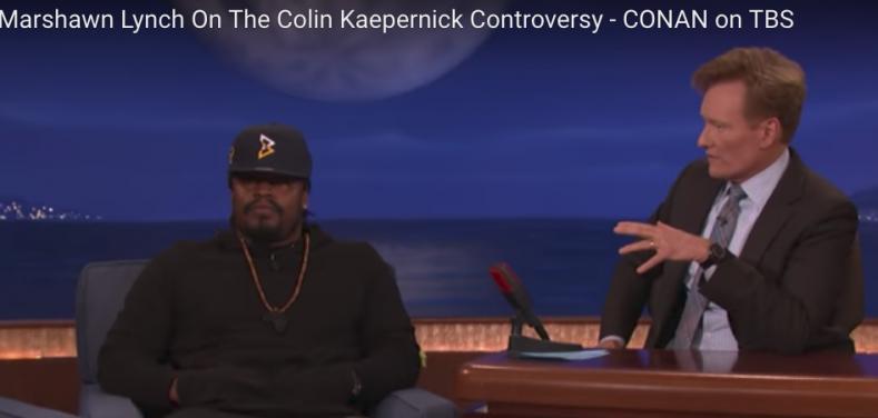 Marshawn Lynch on Conan in September 2016. (Screenshot: YouTube)