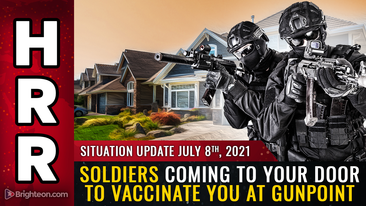 Image: Soon, FEMA squads and U.S. soldiers will be coming to your door to vaccinate you at gunpoint (or drag you away to a covid death camp)