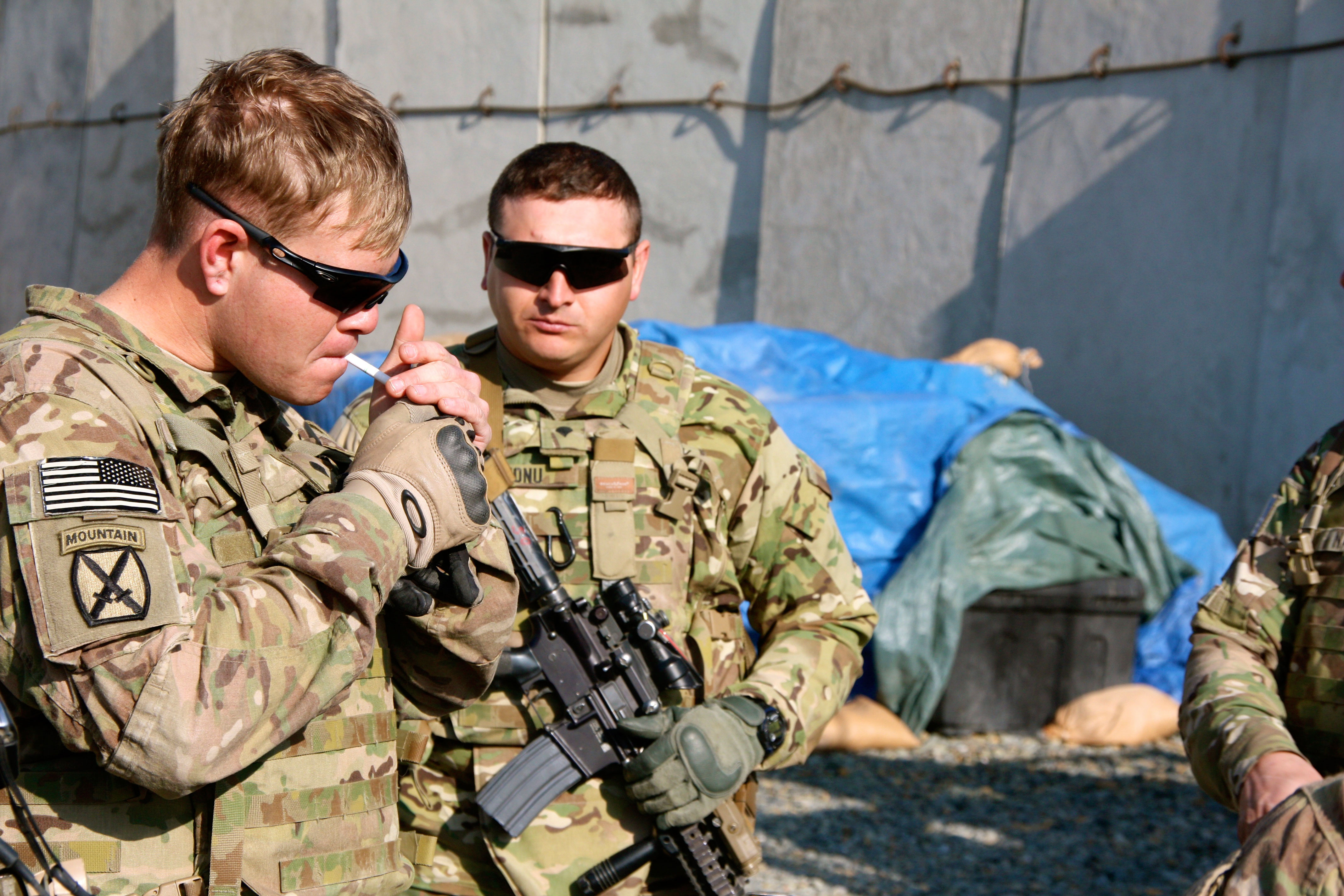 U.S. Army soldiers use a smaller, lighter variant of the M16, called the M4, in Afghanistan.