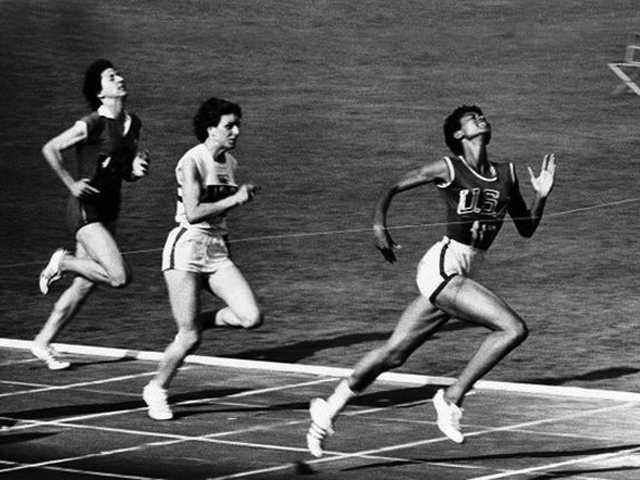 Wilma Rudolph at the 1960 Summer Olympics. Photo credit: Giuseppina Leone