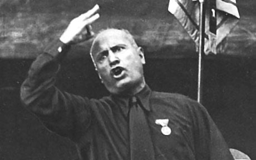 "Mussolini, ""Trump's secret template."""