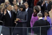 President Barack Obama takes oath of office