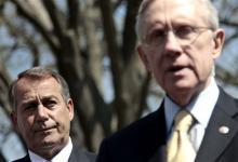 House Speaker John Boehner (R.-Ohio) and Senate Majority Leader Harry Reid (D.-Nev.0