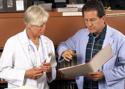 Doctors confer