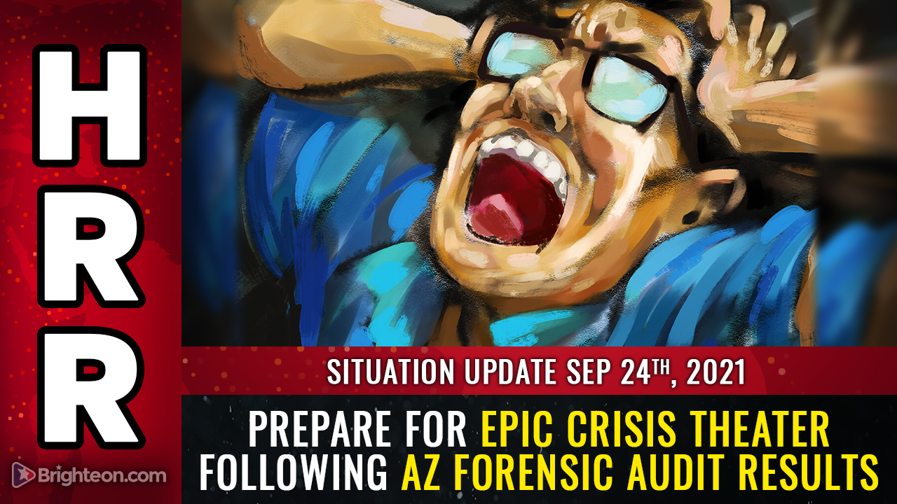 """Image: AZ forensic audit results show SYSTEMIC fraud, faked votes, more than 5X the margin of """"victory"""" from just one county out of the entire state … prepare for CRISIS THEATER distractions"""