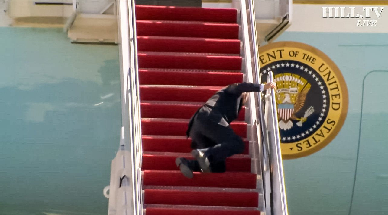 Biden fall air force one march 2021