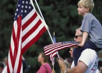 American-flag-family