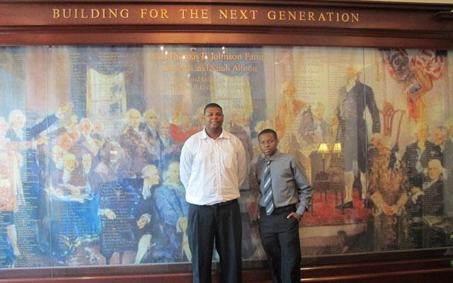 Cesar Chavez students DeQuan Staton (left) and Jamar Traynham.