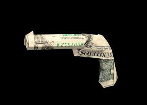 origami money gun