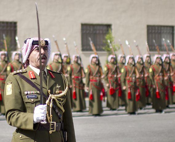 Jordanian honor guard