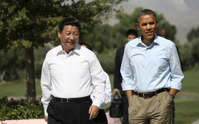 Presidents Obama and Xi (No publication in Australia, Belgium, China, France, Poland and Russia)