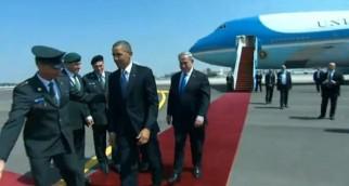 President Obama arrives in Israel