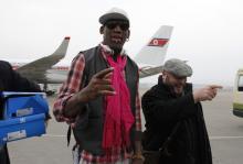 Rodman arrives in Pyongyang