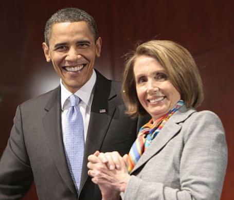 President Barack Obama and House Minority Leader Nancy Pelosi
