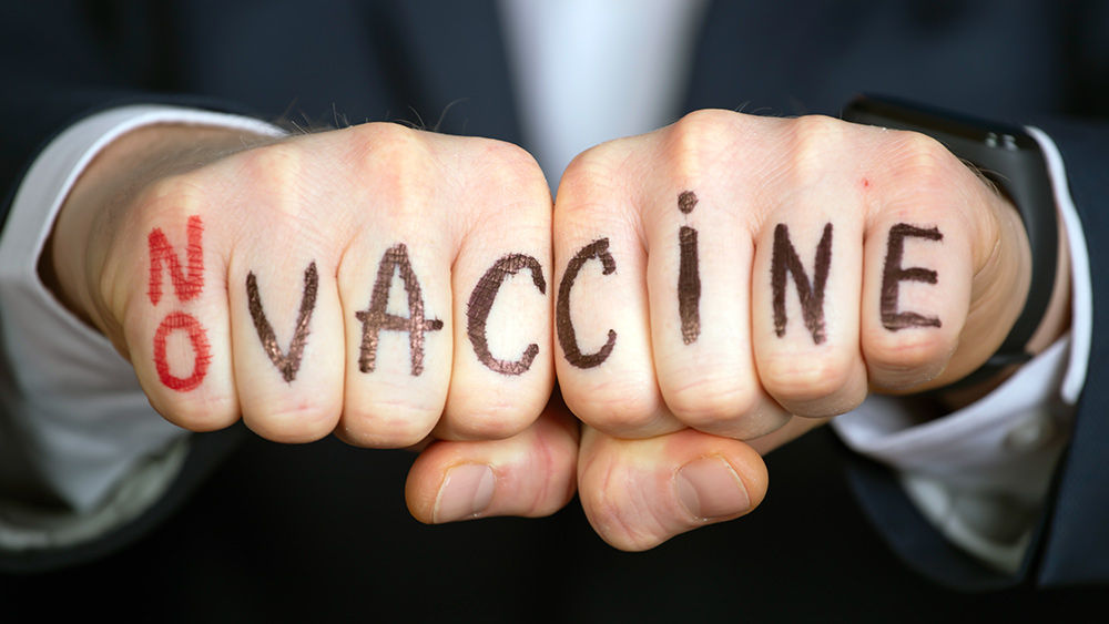 """Image: CLAIM: Vaccine """"police"""" now going door-to-door in California pushing covid injections"""