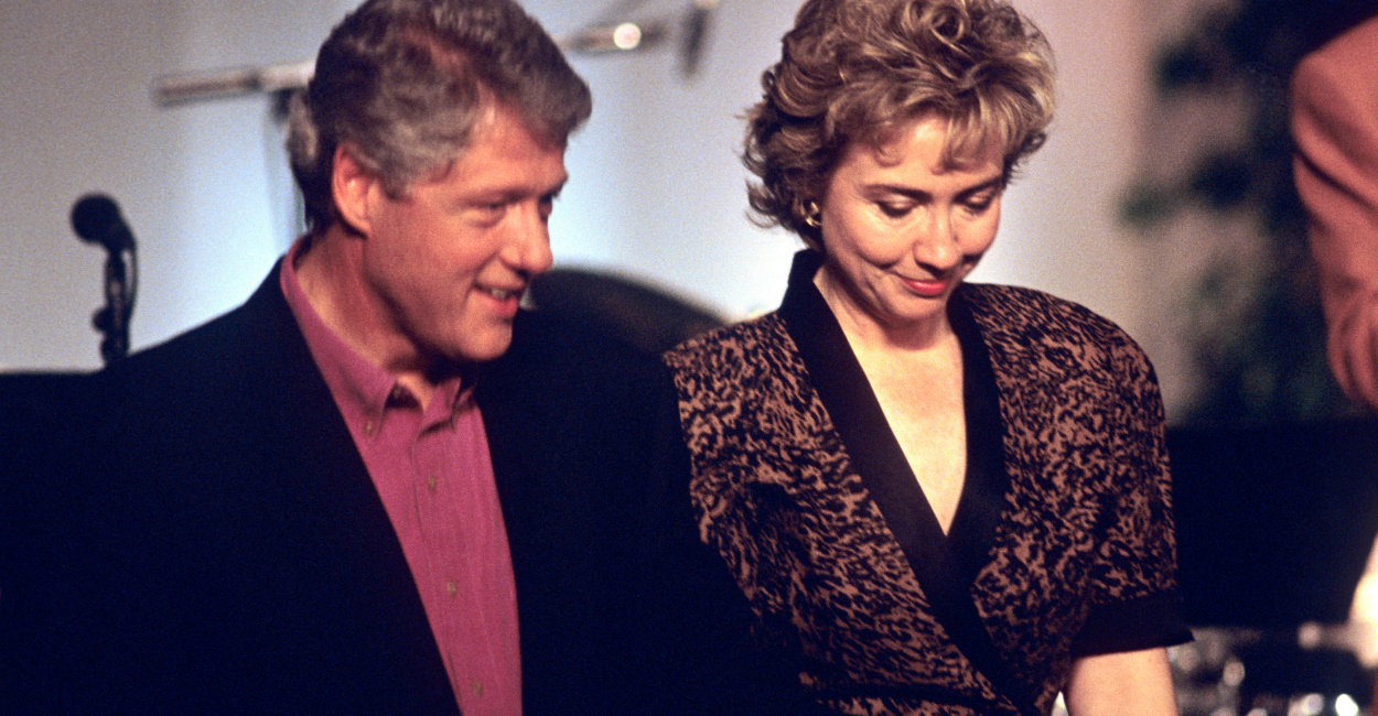 Bill Clinton and wife Hillary Clinton attend the taping of the PBS series In Performance at the White House on the South Lawn of the White House in June of 1993. (Photo: Ron Sachs/CNP/AdMedia/Newscom)