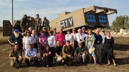 HonestReporting mission visiting Golan army base.