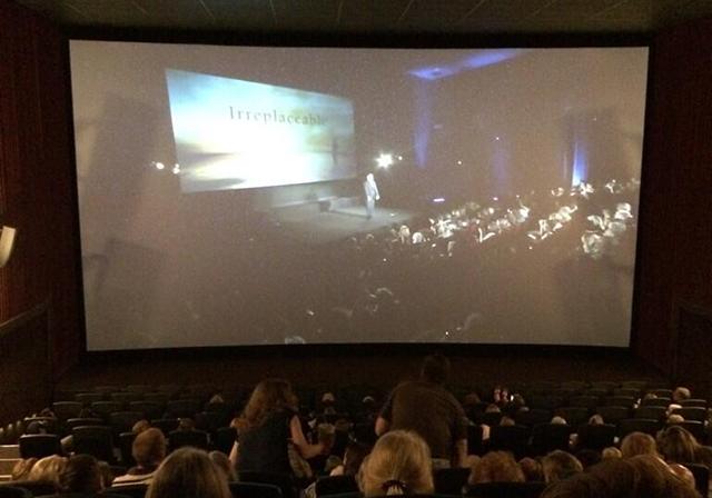 The  in Louisville, KY for Irreplaceable movie. (Photo: Steve Watters via ?@SteveWatters Twitter)