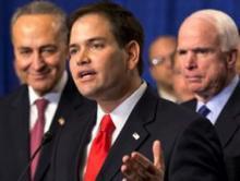 Marco Rubio, Charles Schumer, John McCain