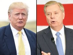 President Donald Trump andSenator Lindsey Graham (R-S.C.) (AP photos)