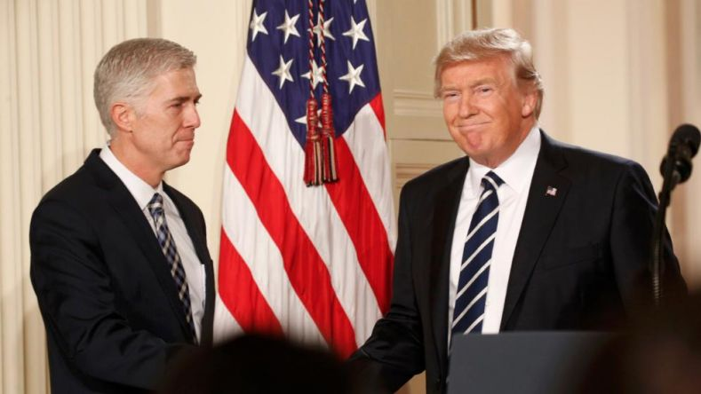 Supreme Court nominee Neil Gorsuch and President Donald Trump, Jan. 31, 2017.  (AP)
