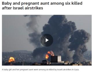 ITV baby killed after Israel airstrikes