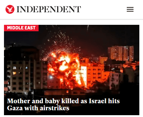 Indy baby killed as Israel hits