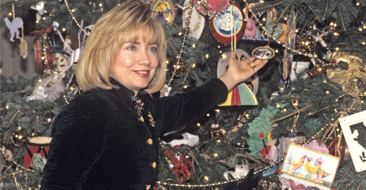 White house christmas ornaments 1993 - Clinton Hosts A Press Event To Preview The Holiday Decorations At The White House In December