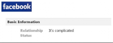 Facebook Relationship Status Complicated