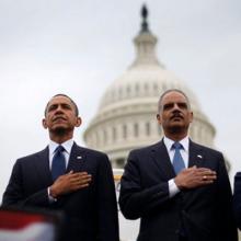 President Barack Obama and Attorney General Eric Holder