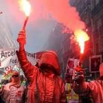Demonstration in Marseille, France