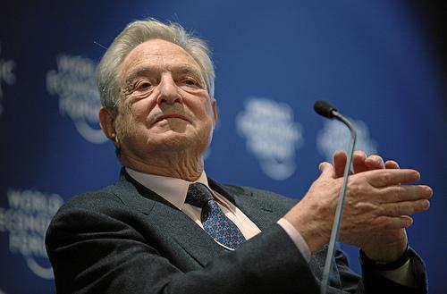 DAVOS/SWITZERLAND, George Soros