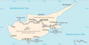 The division of Cyprus