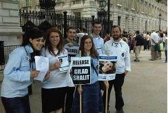 Bnei Akiva activists with their British emiss