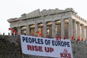 Europe Rises up to Curruption ( Athens Greece)