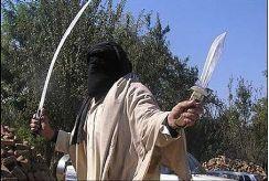 Jihad terrorist with sword