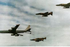 Iranian Phantom jets refueling